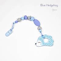 Грызунок из пищевого силикона BABY MILK TEETH Blue Hedgehog
