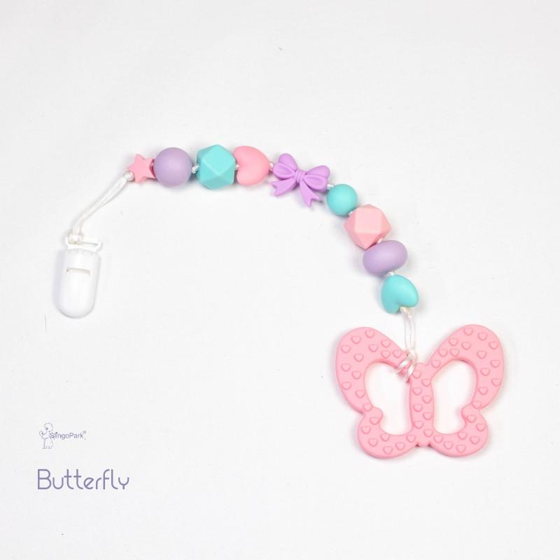 Грызунок из пищевого силикона BABY MILK TEETH Butterfly