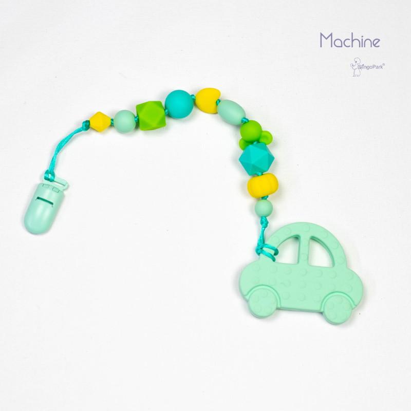 Грызунок из пищевого силикона BABY MILK TEETH Mint Car