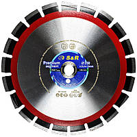 Алмазный диск по асфальту и бордюру S&R Premium Segment 350 мм