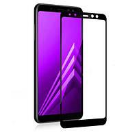 Защитное стекло Samsung A6 2018, J6 2018 (J600) 5D чёрный (тех упаковка)