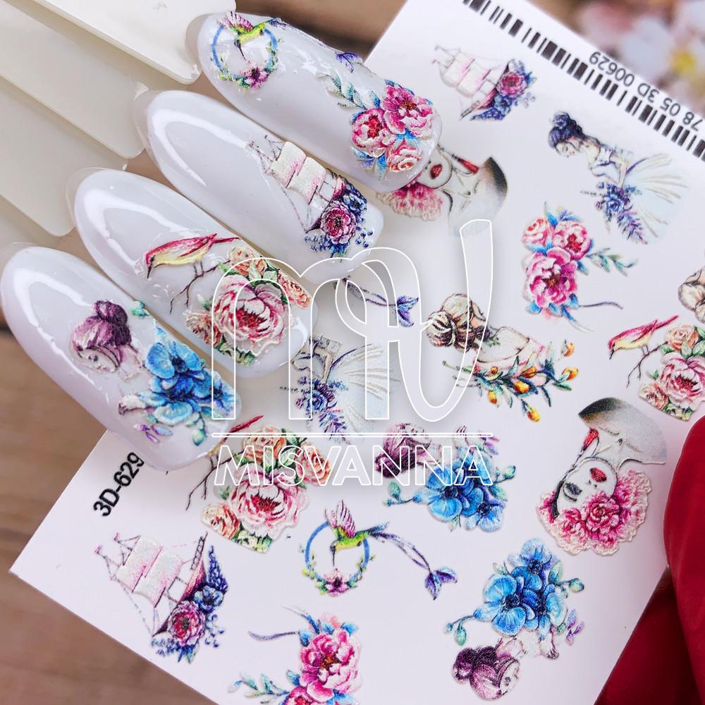 Слайдер дизайн 3D-629 цветы