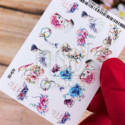 Слайдер дизайн 3D-629 цветы, фото 2