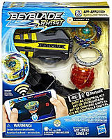 Цифровой волчок бейблейд Фафнир Ф3 Beyblade Burst Evolution Digital Control Kit Fafnir F3