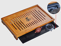 Чабань бамбуковая с поддоном (43*28*5), фото 1