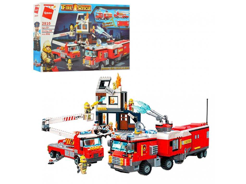 Конструктор пожарная часть Qman 996 деталей