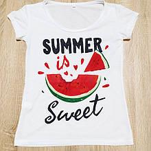 Жіноча футболка з фото / логотипом / картинкою