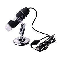 Цифровой микроскоп USB Magnifier Kronos SuperZoom 25-200X с LED подсветкой Черный (mdr_1169)