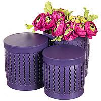 """Набор стильных подарочных коробок """"Зигзаг"""" 3шт. фиолетовые 20х20 см, фото 1"""
