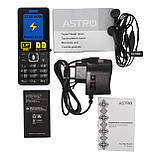 Телефон кнопочный мобильный на 2 сим карты с мощной батареей и функцией Powerbank Astro B245 черный, фото 7