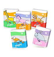 Бумажные носовые платочки Bella Baby Happy, трёхслойные, 10 уп. по 10 шт.
