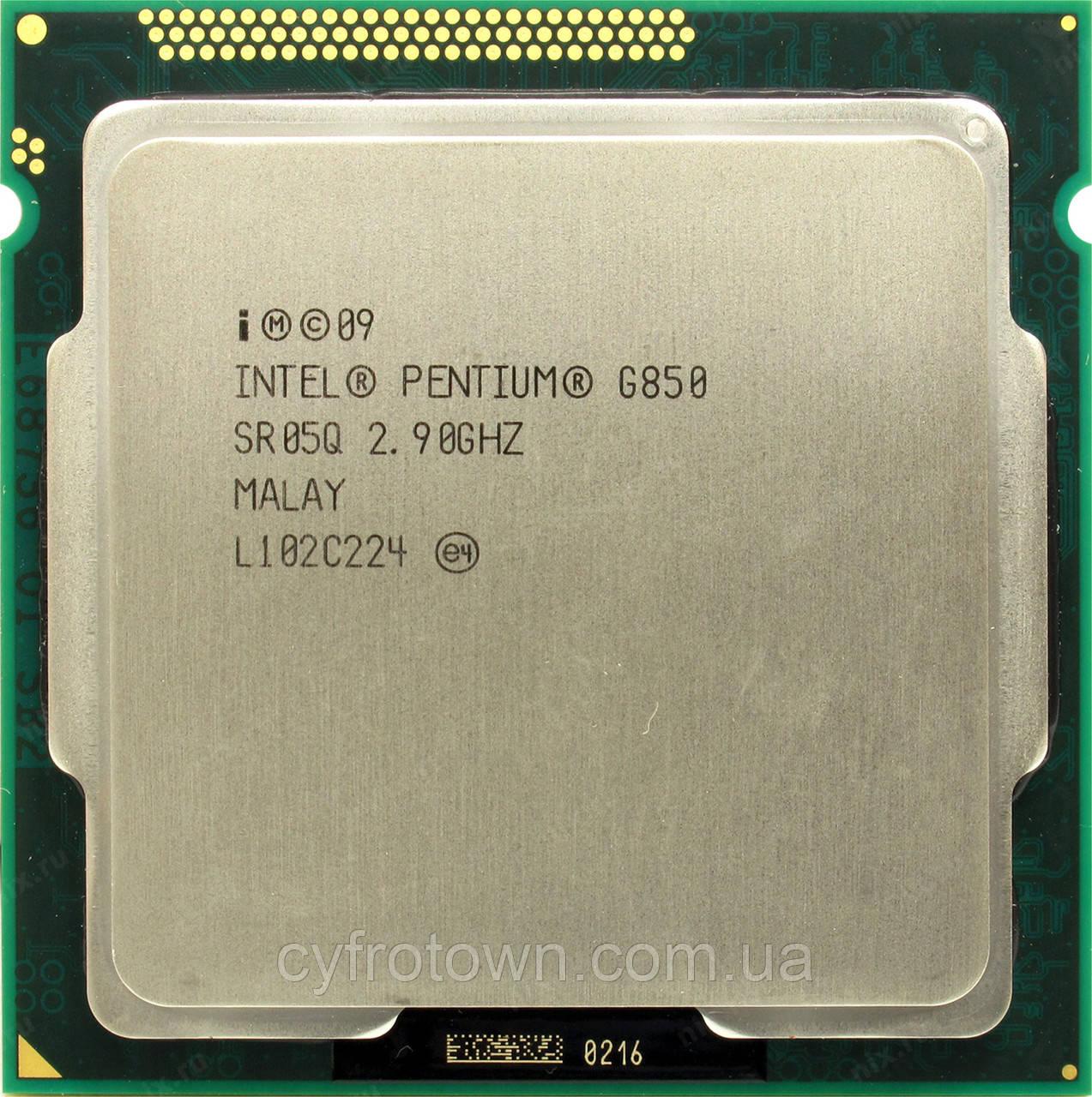 Процессор Intel Pentium Dual Core G850 2x2.90GHz/2.5GT/s3MB   s1155