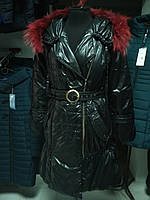 Осенне-зимнее пальто с бордовым мехом, фото 1