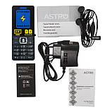Телефон кнопочный на 2 сим карты с мощной батареей и функцией Powerbank Astro B245 синий, фото 6