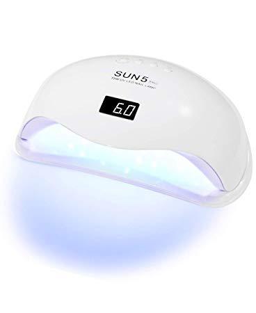 UVLED лампа для манікюру SUN 5 PRO на дві руки 72W