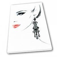 Картина на холсте Kronos Top Мода Девушка 80 х 120 см (lfp_334480727_80120)