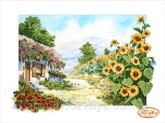 Схема для вышивки бисером Сельский пейзаж, фото 2