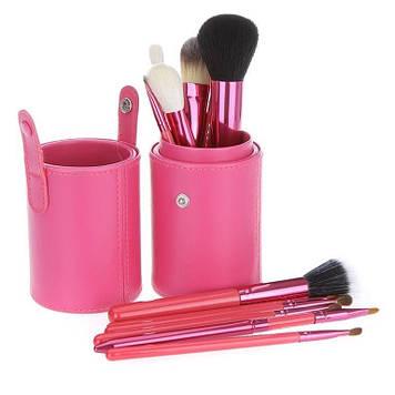 Набір кистей в тубусі (Рожевий) 12 шт