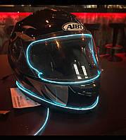 Подсветка мото шлема холодным неоном.10 цветов на выбор!