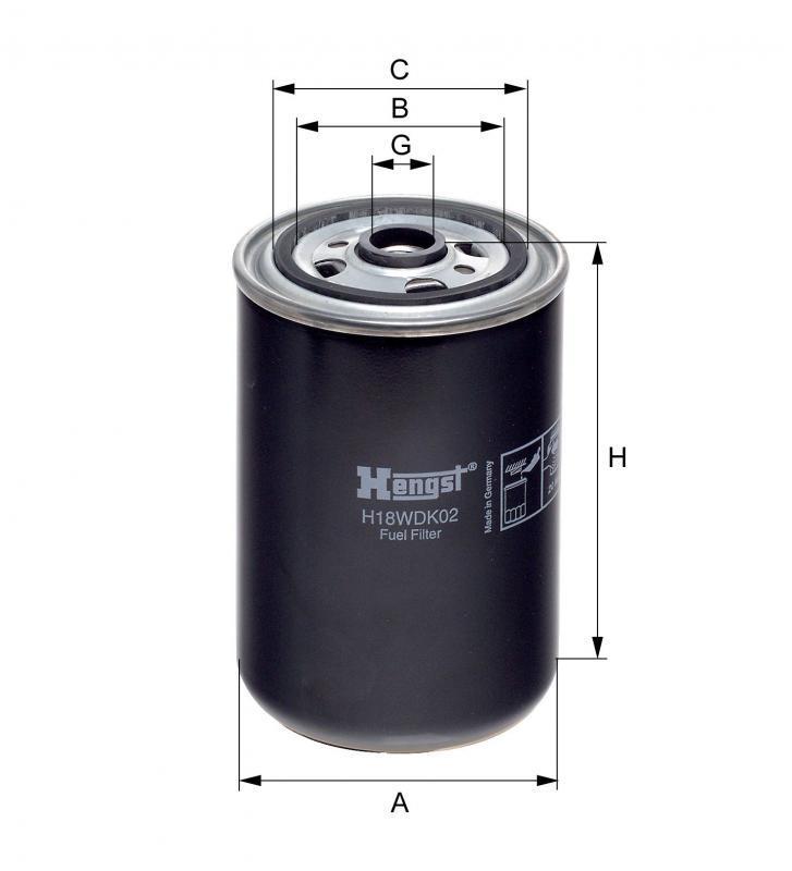 Паливний фільтр Hengst H18WDK02