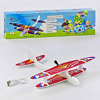 Метательный самолет-планер с пропеллером на аккумуляторе, зарядка от micro-USB!