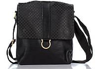 Повседневная мужская кожаная сумка 8955-11 Dovhani черная