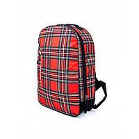 Рюкзак Punch Buzz Tartan Red, фото 1