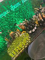 Бокалы одноразовые твердые элитные на ножке для шампанское для пикника, мангал меню, пати CFP 6 шт 130 мл, фото 1