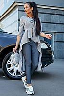 ✔️ Кардиган женский стильный 42-48 размера серый, фото 1