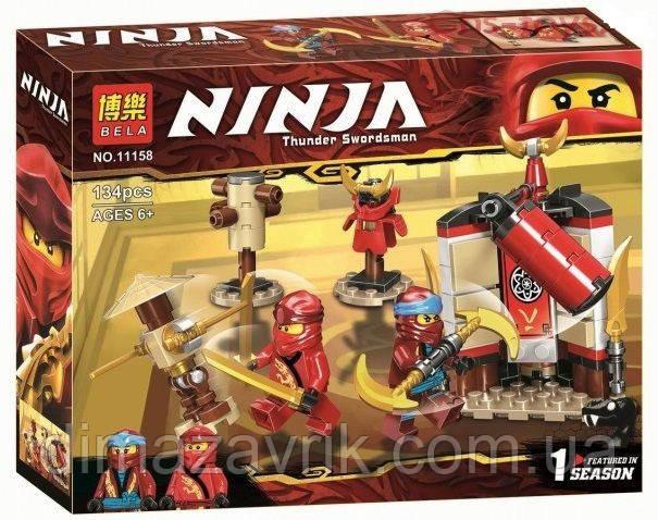 """Конструктор Bela11158 (Аналог Lego Ninjago 70680) """"Обучение в монастыре"""" 134 детали"""