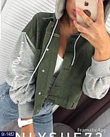 Женская джинсовая куртка с капюшоном, фото 1