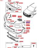 Кронштейн переднего бампера левый вехний киа Соренто 2, KIA Sorento 2012-14, 865932p000, фото 5