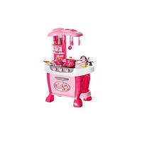 Игровой набор Shang Feng Long Кухня со световыми и звуковыми эффектами Розовый (008-801)