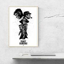 "Постер ""Peaky blinders"", Острые козырьки, белый фон. Размер 60x43см (A2). Глянцевая бумага, фото 3"