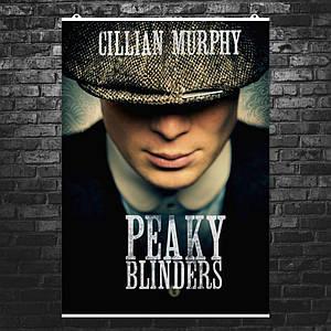 "Постер ""Peaky blinders"", Острые козырьки, Томас Шелби (Киллиан Мерфи). Размер 60x43см (A2). Глянцевая бумага"