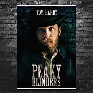 """Постер """"Peaky blinders"""", Острые козырьки, Альфи Соломонс (Том Харди). Размер 60x43см (A2). Глянцевая бумага"""