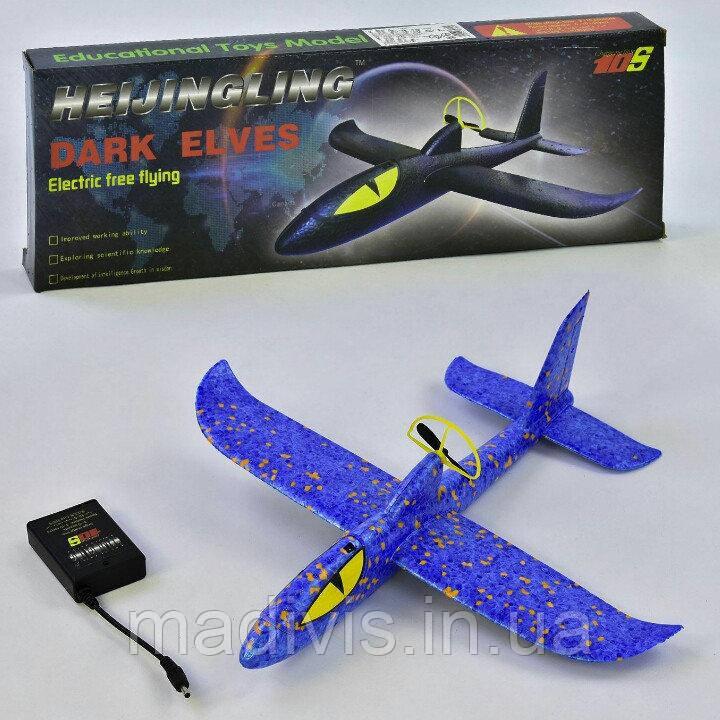 Самолет-планер метательный из пенопласта с мотором