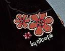 Дитячі велюрові штани коричневі для дівчинки р. 68-86 см (Nicol, Польща), фото 2