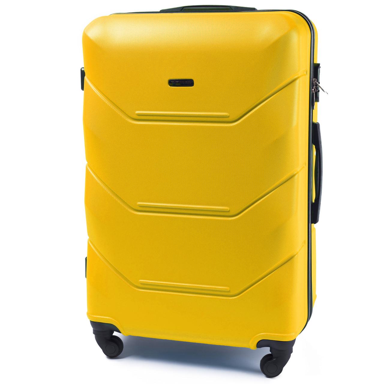 Чемодан дорожный на 4 колесах Wings 147 Большой (L) Желтый