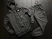 Мужской весенний спортивный костюм Nike (Gray), серый спортивный костюм, (Реплика ААА), фото 1