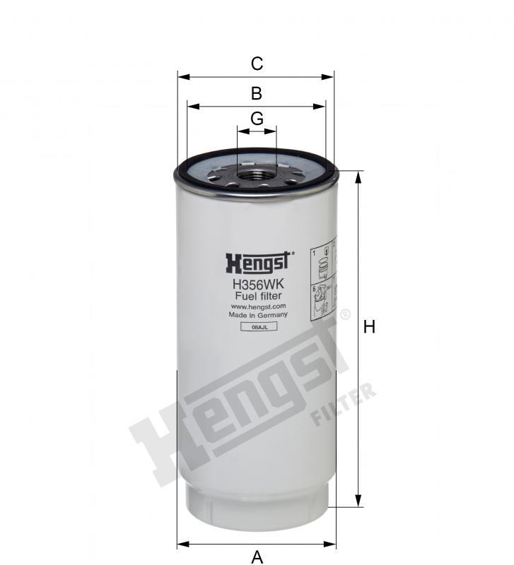 Паливний фільтр Hengst H356WK