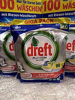 Гелевые капсулы для посудомоечных машин Dreft Platinum Orange 90 шт, фото 1