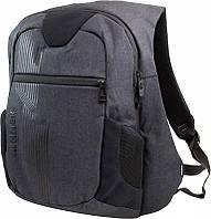 Городской рюкзак Winner Stile мужской с двумя отделениями и потайным отделением темно серый