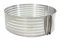 Форма-кольцо для нарезки коржей раздвижная 24см