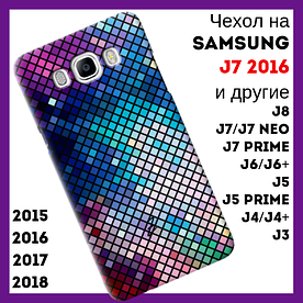 Чехол на Samsung Galaxy J7 2016 с рельефным принтом Reptile