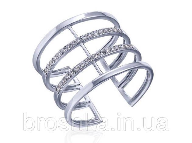 Широкое серебряное кольцо на среднюю фалангу пальца, фото 2
