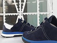 Кроссовки осенние мужские кожаные BALI blu