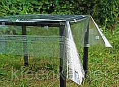 Клеенка-скатерть силиконовая с эффектом голограммы, прозоре покриття на стіл с малюнком в грецькому стилі