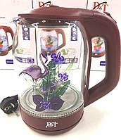 Электрический стеклянный чайник с подсветкой DT-2841 (2L)