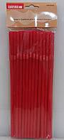 Соломка с изгибом для коктейлей Empire  красная 50 штук длина 21,5 см пластик (0242 EM)